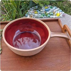 RARE vtg Solana Ware glazed pottery casserole pot